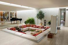 Lounge Leder Sofa Set orientalisch Mitten im Haus-moderne Einrichtung