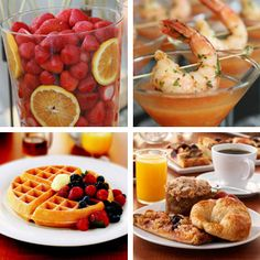 breakfast for wedding meal!!! CUTE... especially if the wedding is a brunch or mid-day wedding
