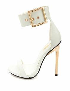 Metal Ankle Stiletto Sandal: Charlotte Russe
