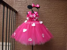 Pink Minnie Mouse Tutu Dress by KatieDscreations on Etsy, $70.00