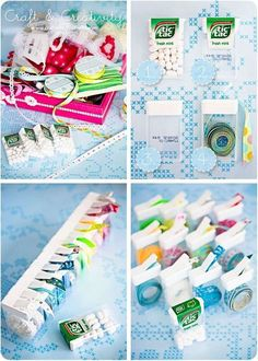 Organize Ribbons with Tic Tac Cases