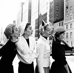 Models in New York photographed by Gordon Parks, 1952.