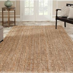 @Overstock.com - Hand-woven Weaves Natural-colored Fine Sisal Rug (9' x 12') - Complete your home decor with a hand-woven area rug Casual rug features rich shades of beige Rug is constructed of 100-percent natural jute  http://www.overstock.com/Home-Garden/Hand-woven-Weaves-Natural-colored-Fine-Sisal-Rug-9-x-12/4382772/product.html?CID=214117 $331.56