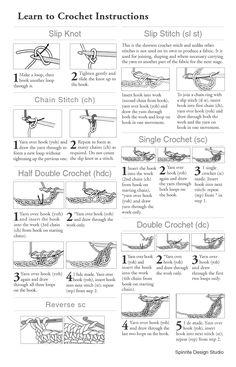 free printable crochet stitch guide - ༺✿ƬⱤღ  http://www.pinterest.com/teretegui/✿༻