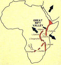 Africa Great Rift Valley Map Africa Pinterest Rift Valley - Africa map great rift valley