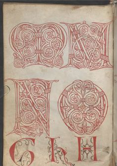 Reiner Musterbuch (ÖNB Wien Cod. 507) 1208-1213 Medieval Font, Medieval Manuscript, Illuminated Letters, Illuminated Manuscript, Romanesque Art, Letter Ornaments, Occult Symbols, Doodle Lettering, Beautiful Calligraphy