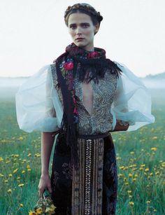 Carmen Kass by Yelena Yemchuk for Vogue Nippon