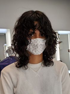 Curly Hair With Bangs, Curly Hair Tips, Cut My Hair, Curly Hair Styles, Color For Curly Hair, Short Hair For Curly Hair, Shag Hair Cut, Shaggy Curly Hair, Short Curly Cuts