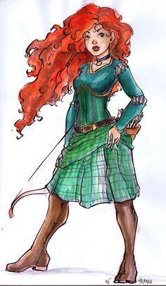 Brave Merida by ~motega on deviantART