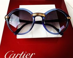 Cartier...  just WOW More blue sunglasses here: http://www.visiondirect.com.au/style-finder/9b720966/118617c0 #visiondirect_au #sunglasses