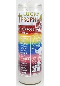 Lucky Prophet 7 Color 7 day Jar Candle  #AzureGreen #Home