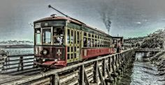 The Riverfront Trolley in Astoria, Oregon...one of the most scenic settings on the Oregon Coast!