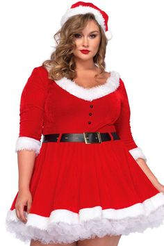 Plus size xmas dress up american