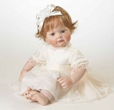 "Smile and Checks of Pink ~ Doll ""Lilly"" by Hildegard Gunzel"