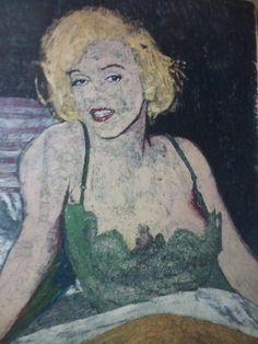 """"""" Mujer con enagua verde """" Tecnica mixta 1mt x85"""