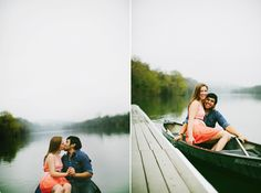 Lady Bird Lake engagement shoot in a row boat! LBJ Austin, TX | Engaged