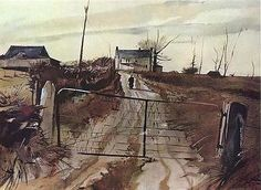 CHESTER COUNTY FARM Andrew Wyeth (times gone by / loneliness / deserted)