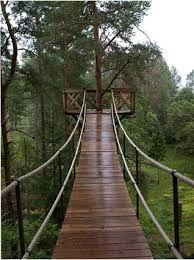 Image result for swinging bridges for treehouses