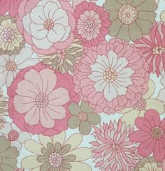 Fab retro #1970s m&s double duvet #cover + 2 #pillowcases - funky pink flowers,  View more on the LINK: 	http://www.zeppy.io/product/gb/2/152087958284/