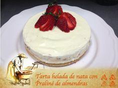 TARTA HELADA DE NATA CON PRALINÉ DE ALMENDRAS, una receta de Postres y dulces, elaborada por ROSA MARIA ALBONS DIAZ. Descubre las mejores recetas de Blogosfera Thermomix® Mallorca