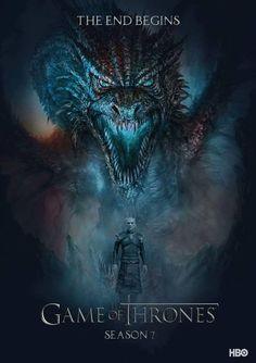 Game of thrones season 7 poster. Winter is here, the night king Art Game Of Thrones, Game Of Thrones Saison, Watch Game Of Thrones, Game Of Thrones Dragons, Jon Snow, Daenerys Targaryen, Khaleesi, Winter Is Here, Winter Is Coming