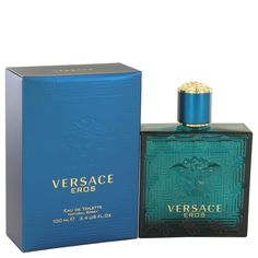 Versace Eros by Versace Gift Set -- .17 oz Mini EDT + .8 oz Showe Gel + .8 oz After Shave Balm