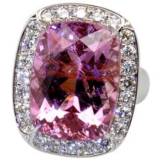 "carat pink tourmaline ""princess"" ring by emma year anniversary ring? carat pink tourmaline ""princess"" ring by emma quist. Pink Jewelry, Fall Jewelry, Gems Jewelry, Summer Jewelry, Jewelry Watches, Choker Jewelry, Yellow Engagement Rings, Deco Engagement Ring, Tourmaline Jewelry"