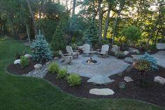 Best Inexpensive Fire Pit | Fire Pit Landscaping Ideas, Design ... #LandscapingIdeas