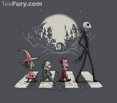 Tee Fury Halloween Road-Nightmare Before Christmas