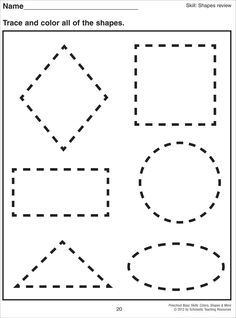 math worksheet : 1000 images about preschool  shapes on pinterest  shape shape  : Pre K Tracing Shapes Worksheets