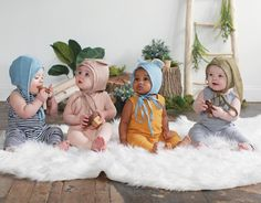 Today is the last day to order for guaranteed Halloween delivery! Dont let these Bonnets (and the easiest Halloween costume ever) hop by!  // #littlesunhat #bunnybonnet #bearbonnet