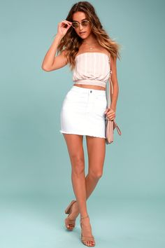 6bc9fb82535 13 Best White Denim Skirt images
