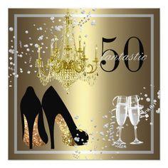 Tarjeta 50.a celebración del cumpleaños de la mujer