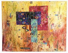 Divergence art quilt by Vickie Hallmark, 2001.