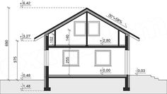 Rzut projektu Dom przy Imbirowej Flat Roof House, House Plans, Floor Plans, How To Plan, Home Decor, House, Decoration Home, Room Decor, House Floor Plans