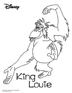 Jungle Book Coloring Sheet-King Louie