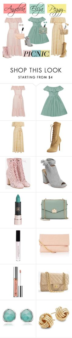 """Schuyler Sisters (Hamilton)"" by biscuitatlas ❤ liked on Polyvore featuring Lisa Marie Fernandez, Eberjey, Yeezy by Kanye West, Laurence Dacade, Kristin Cavallari, Anastasia Beverly Hills, Jennifer Lopez, Chanel, Monica Vinader and Saks Fifth Avenue"