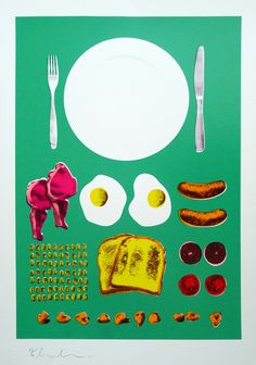 Marilyn's Breakfast - Dave Buonaguidi Print Club London