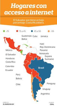 El Salvador, segundo país de Latinoamérica con menos acceso a Internet | elsalvador.com