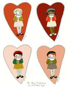 Lovely heart illustrations from inside a black apple (via modern kiddo)