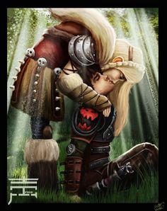 Hiccup And Astrid by justinwharton.deviantart.com on @DeviantArt