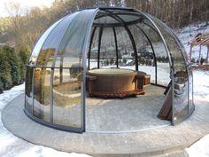Užívejte vířivé vany Softub i v zimě #virivky #zima #zahrada