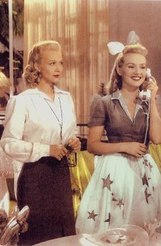 Carole Landis and Betty Grable- c.1940s