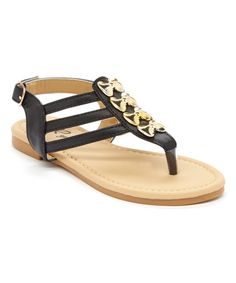 Love this Black Multi-Bow T-Strap Sandal by Rya on #zulily! #zulilyfinds