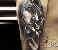 Girl Face tattoo by Arlo Tattoos
