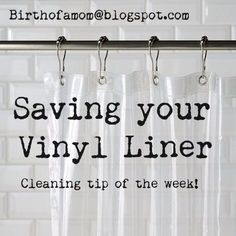How to wash a vinyl shower liner