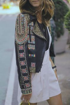 A Fall must is to have a beautiful detailed jacket! It adds fun detail to any simple outfit!