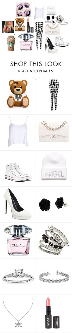 """""""Christina"""" by ehniwah on Polyvore featuring moda, Moschino, Boohoo, Chanel, Converse, Kendall + Kylie, Yves Saint Laurent, Versace, Miss Selfridge e Blue Nile"""