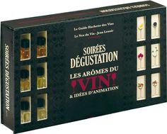 Soirées dégustation : Les arômes du vin & idées d'animation Coffret 37 x 23,3 x 6 cm #Dégustation #Vin