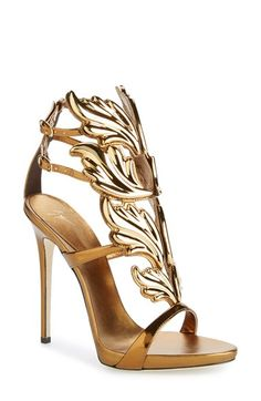 Giuseppe Zanotti Coline Sandal oh my! Gold/bronze paradise on your feet! Available at Nordstrom